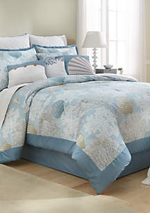 Coral 10-Piece Comforter Bed-In-A-Bag