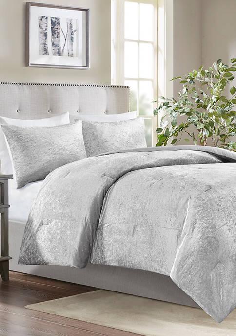 Velvet Crinkle Comforter Set