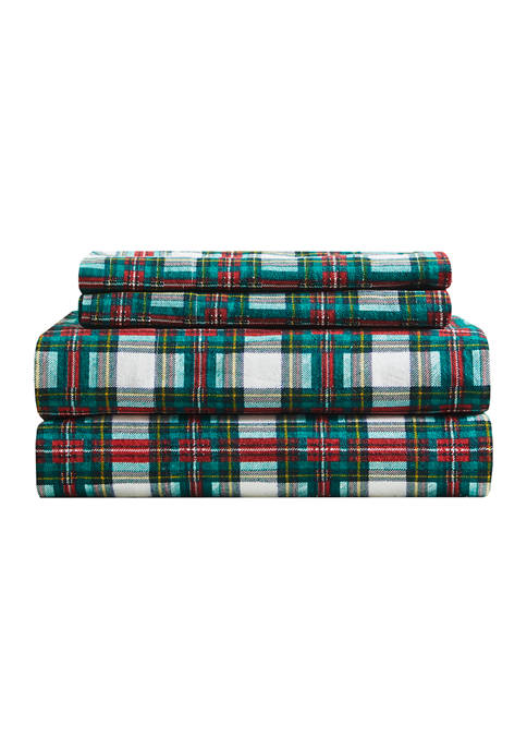 Modern. Southern. Home.™ Flannel Traditional Plaid Sheet Set