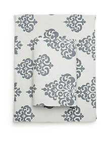 Damask Flannel Cotton Sheet Set