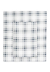 Plaid Flannel Cotton Sheet Set