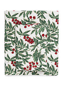 Holly Flannel Cotton Sheet Set