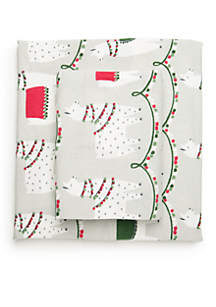 Llama Flannel Cotton Sheet Set