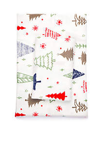 Christmas Tree Flannel Cotton Sheet Set