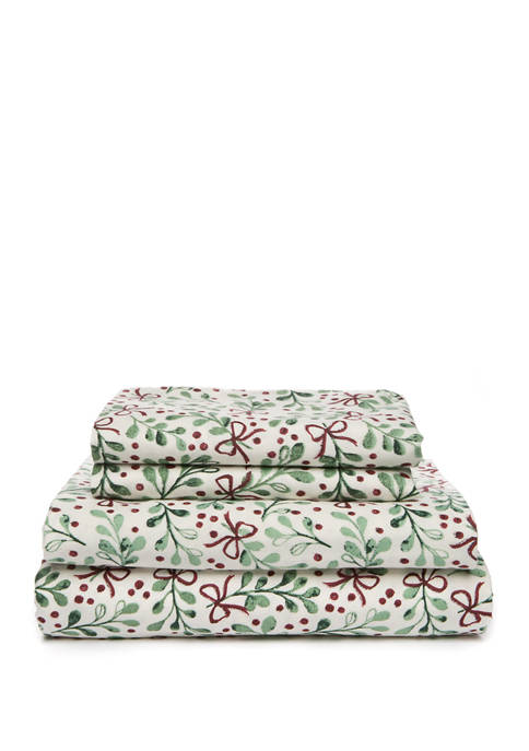 Flannel Holly Sheets