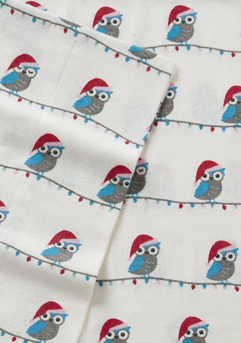 Modern. Southern. Home.™ Christmas Owls Flannel Sheet Set