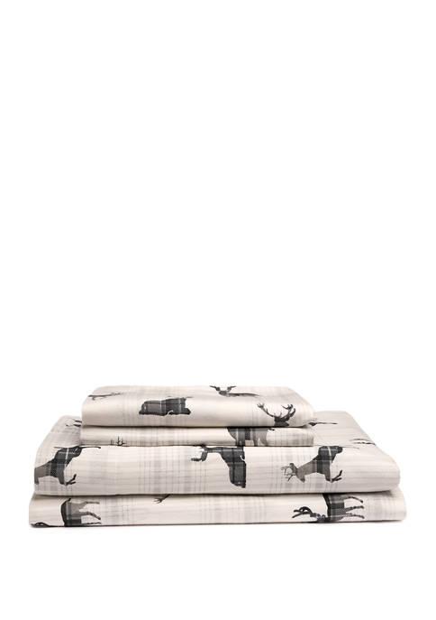 Moose Flannel Cotton Sheet Set