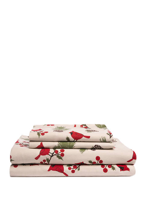 Printed Flannel Sheet Set