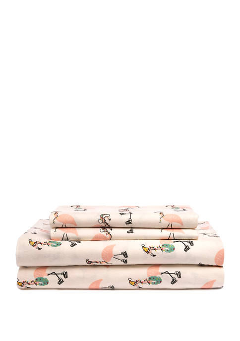 Flannel Flamingo Sheets