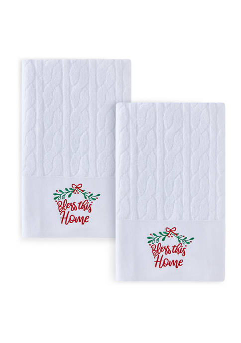 Set of 2 Bless this Home Hand Towels