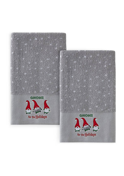 Set of 2 Gnome Hand Towels