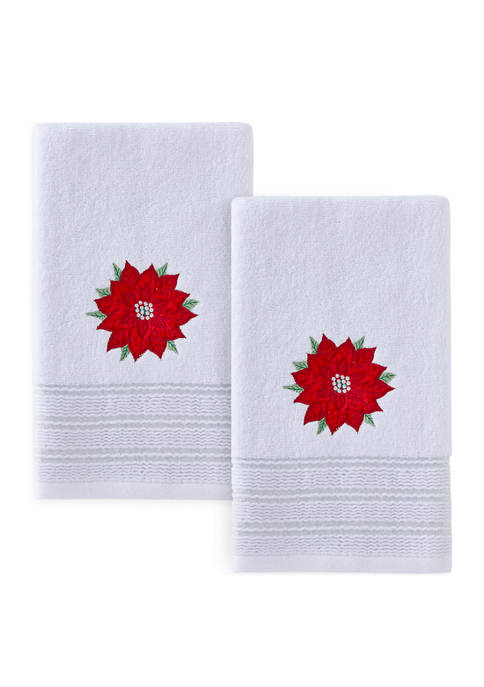 Poinsettia Hand Towel Set