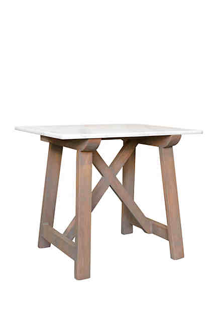 Haven Home Décor Marble Side Table