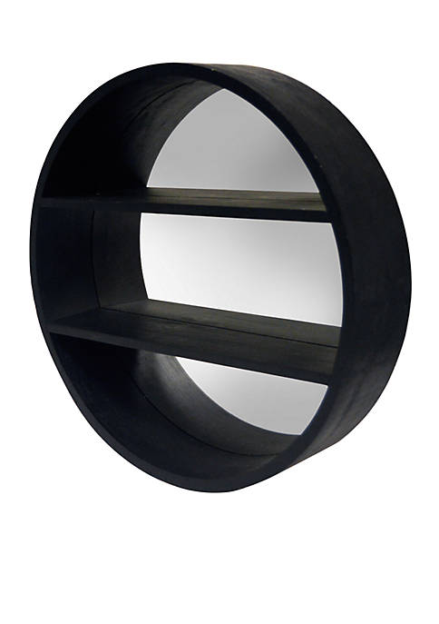 Haven Home Décor Round Mirror with Shelves