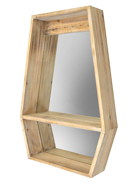 Haven Home Décor Polygon Mirror with Shelf