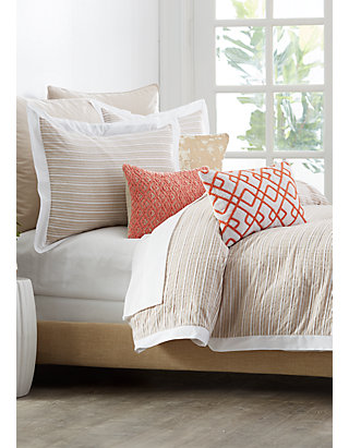 Madison Duvet//Quilt Cover Sets With Matching Pillow Cases Border Striped