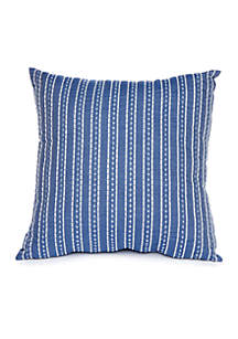 Madison Adrian Chambray Embroidered Throw Pillow