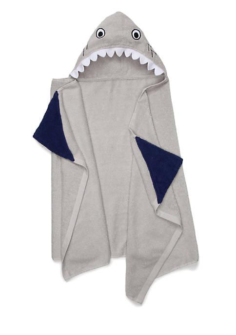 Lightning Bug Shark Hooded Bath Towel