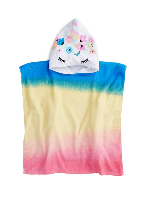 Lightning Bug Hooded Unicorn Poncho Towel