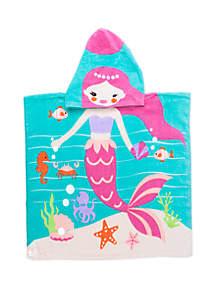 Lightning Bug Kids Mermaid Hooded Beach Towel