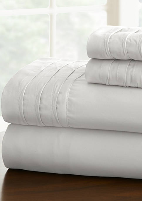 Amrapur Overseas Pintuck Hem Sheet Set