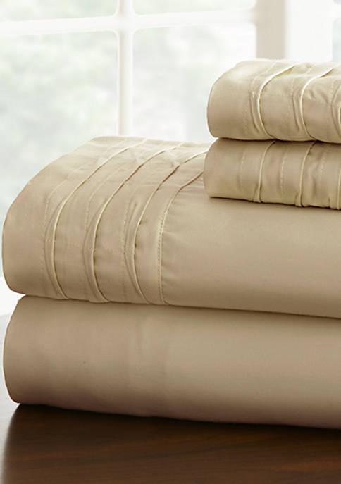 Amrapur Overseas Pintuck Hem Sheet Set
