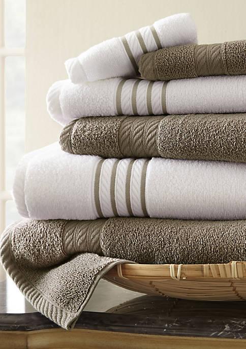 6-piece Quick Dry Striped Towel Set