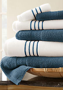 6-piece Quick Dry Striped Towel Set