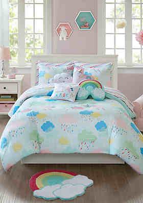 lightning bug unicorn comforter set - Unicorn Bedding