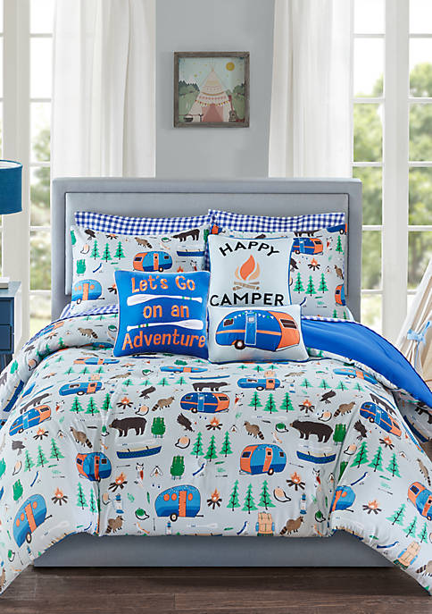 Lightning Bug Happy Camper Comforter Set