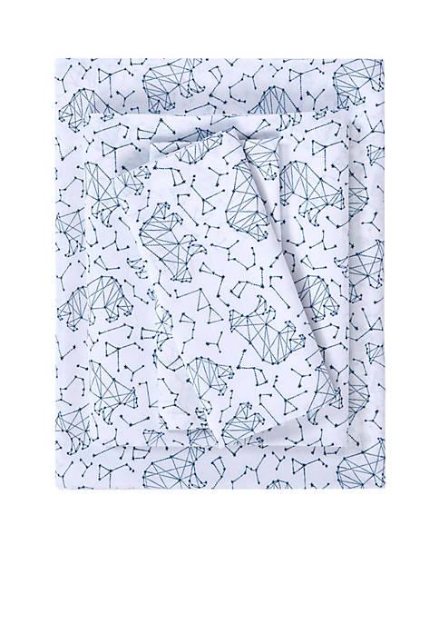 Lightning Bug Constellation Microfiber Printed Sheet Set