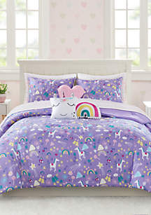 Lightning Bug Unicorn Comforter Set