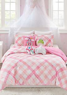 Lightning Bug Gingham Comforter Set