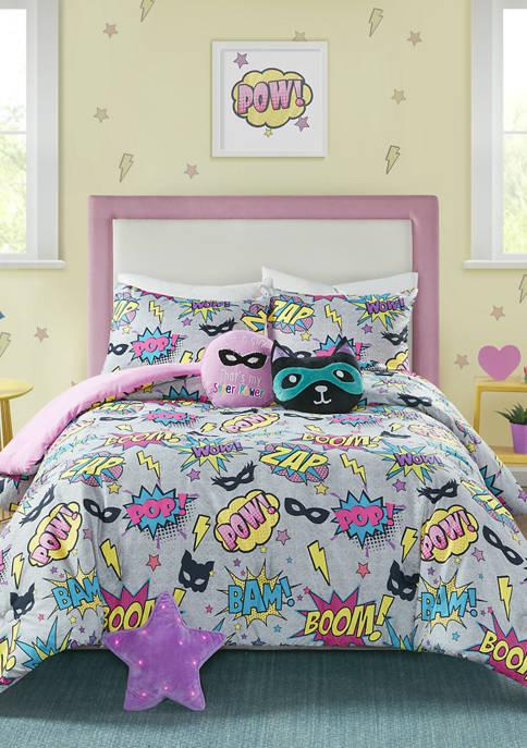 Superhero Girl Comforter Set