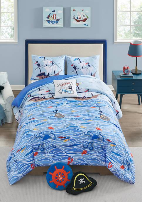 Lightning Bug Pirate Comforter Set