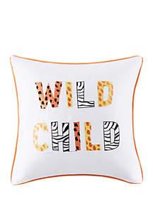 Lightning Bug Wild Child Square Pillow