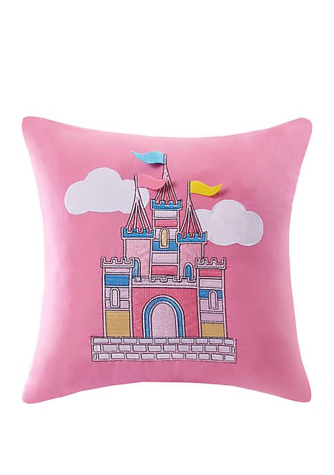 Lightning Bug Castle Square Throw PIllow