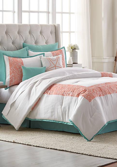 Seaside Retreat 8-Piece Comforter Bed-in-a-Bag Set