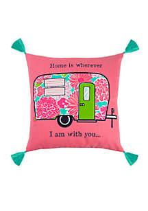 Camper Throw Pillow