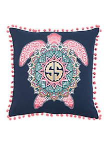 Logo Turtle Throw Pillow