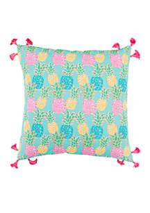 Multi Pineapple Throw Pillow