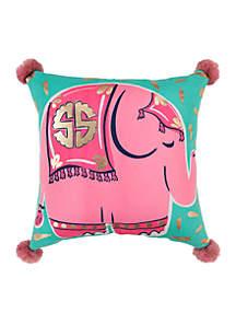 Logo Elephant Throw Pillow
