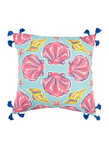 Simply Southern Seashell Throw Pillow