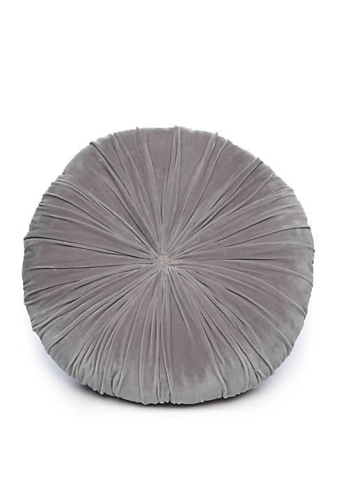 Gray Round Floor Pillow