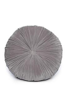 Wonderly Gray Round Floor Pillow