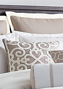 Biltmore® Hotel Collection Scrollwork Appliqued Velvet Throw Pillow