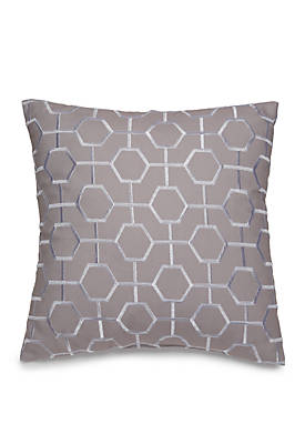 Hotel Collection Scrollwork Geo Embroidered Throw Pillow