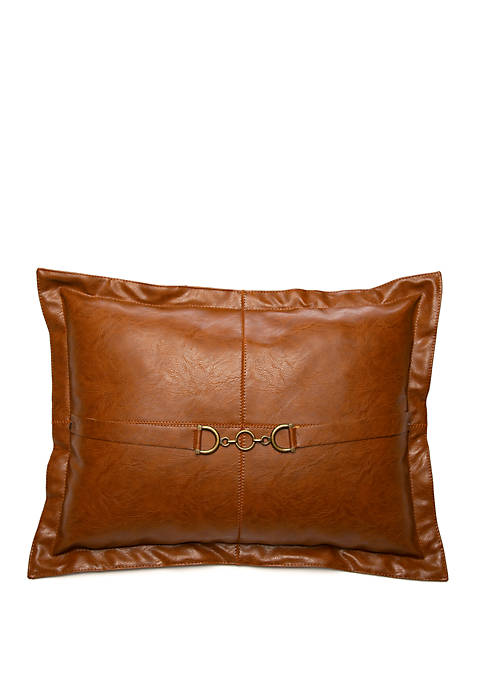 Newport Faux Leather Pillow