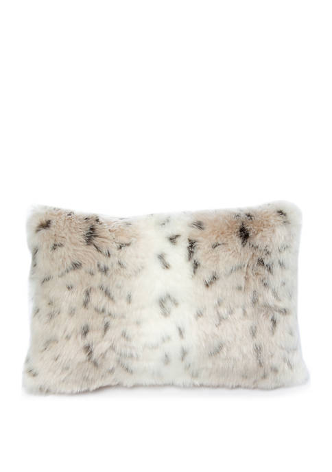 12 in x 18 in Gallery Faux Fur Throw Pillow