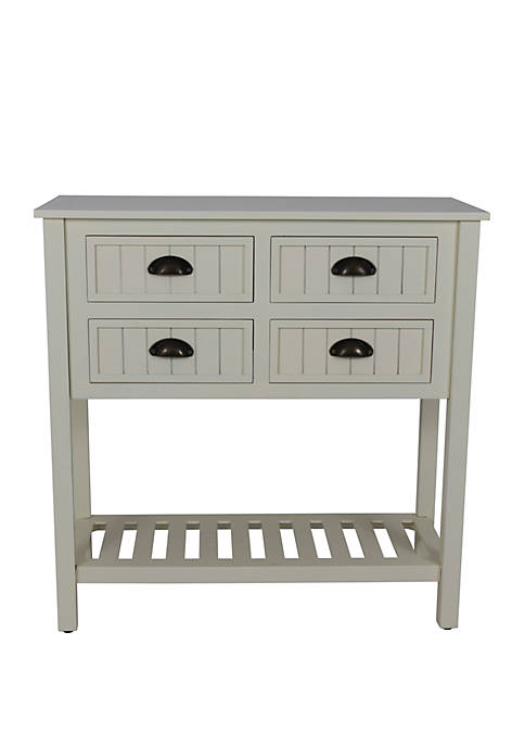 Décor Therapy Bailey Bead Board 4 Drawer Console